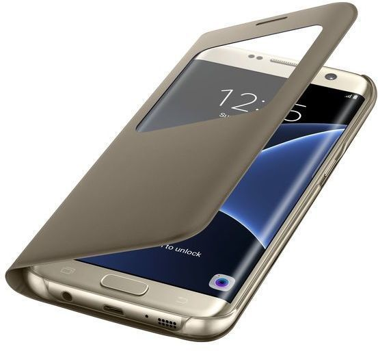Funda Samsung SVIEW S7 Edge Dorada