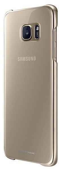 Funda Samsung CLEAR Cover S7 Edge Dorado