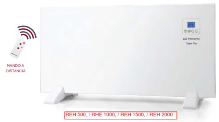 Emisor Orbegozo REH1000 1000w Panel Radiante