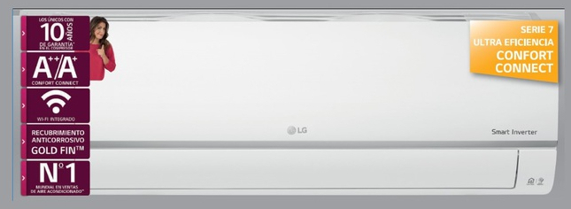 Aire Lg CONFORT09CSET 1x1 Inv Wifi 2150fgr A++/a+