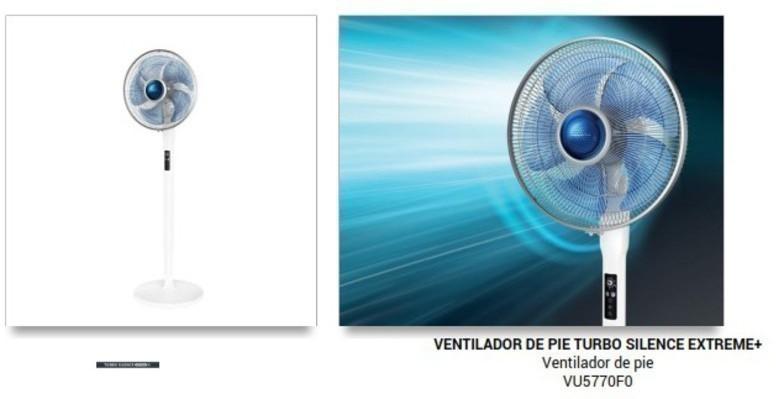 Ventilador Rowenta VU5770F0 Pie 40cm Mando
