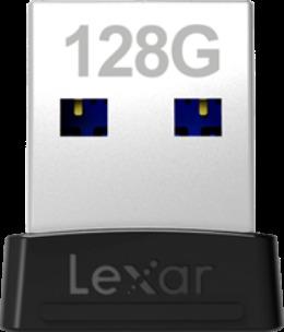 Memoria USB 128 GB LEXAR 128GB USB 3.1 JUMPDRIVE S47 BLACK