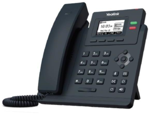Teléfono IP Fija YEALINK TELEFONIA TELEFONO T31P 2 CUENTAS SIP POE
