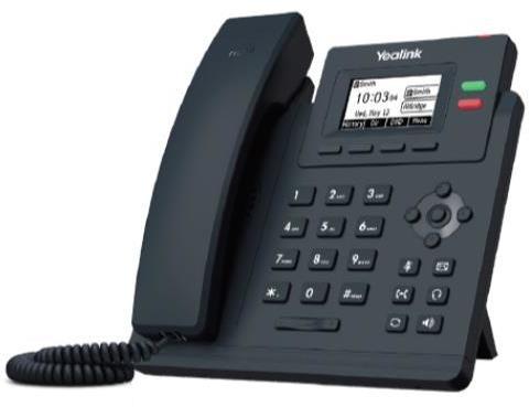 Teléfono IP Fija YEALINK TELEFONIA TELEFONO T31G 2 CUENTAS SIP POE