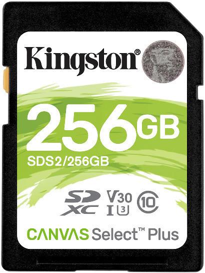 Tarjeta de memoria Secure Digital (SD) KINGSTON 256GB SD CSPLUS 100R C10 U3 V30