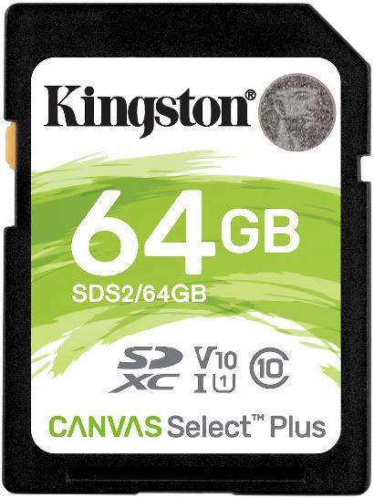 Tarjeta de memoria Secure Digital (SD) KINGSTON 64GB SD CSPLUS 100R C10 U1 V10