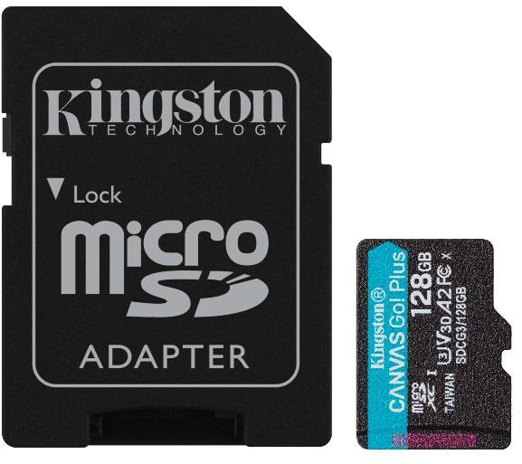 Tarjeta de memoria Micro SD KINGSTON 128GB MICROSD CANVAS GO PLUS + AD