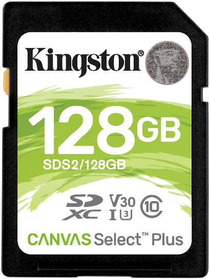 Tarjeta de memoria Secure Digital (SD) KINGSTON 128GB SD CSPLUS 100R C10 U3 V30
