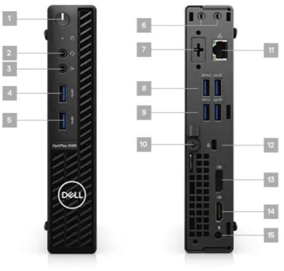 Ordenador sobremesa Mini-PC DELL OPTI 3080 MFF I3-10100T 8/256 W10P