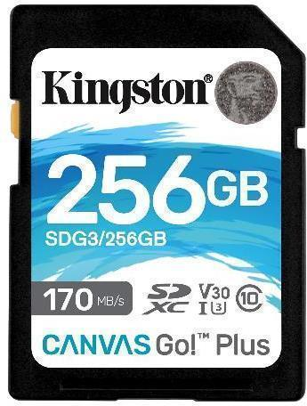 Tarjeta de memoria Secure Digital (SD) KINGSTON 256GB SD CANVAS GO PLUS 170R C10