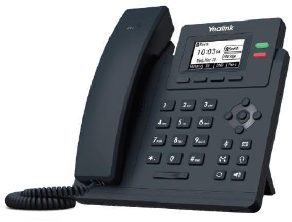 Teléfono IP Fija YEALINK TELEFONIA TELEFONO T31 2 CUENTAS SIP CON PSU
