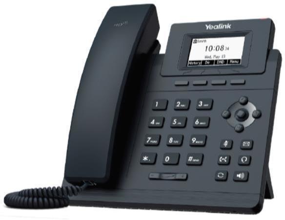 Teléfono IP Fija YEALINK TELEFONIA TELEFONO T30 1 CUENTA SIP CON PSU