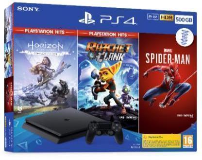 Consola de juegos SONY PS4 500GB SPIDERMAN HORIZON RACHET