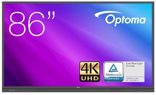 Monitor Smart de más de 85 pulgadas OPTOMA PANTALLA TACTIL 86 PULGADAS 4K UHD