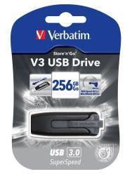 Memoria USB 256 GB VERBATIM 256GB USB 3.0 V3 NEGRO