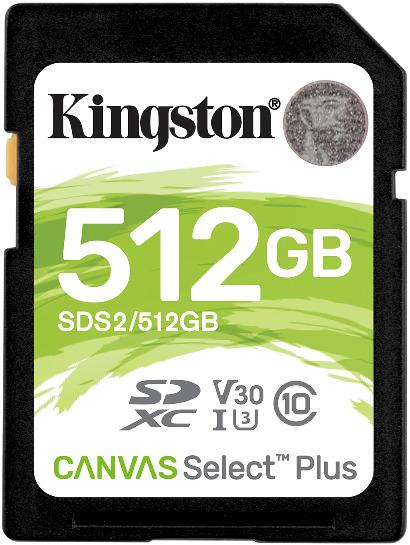Tarjeta de memoria Secure Digital (SD) KINGSTON 512GB SD CSPLUS 100R C10 U3 V30