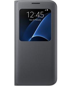Funda Samsung SVIEW S7 Edge Negro