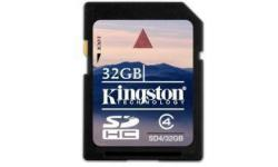 KINGSTON SDHC 32GB CLASE 4 (4MB/S)