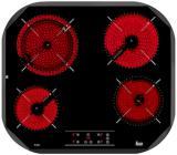 Placa Teka TC6400 4ovalada Vitro Touch Negra(9024
