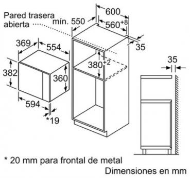 BALAY MICROONDAS 3CG5175B0 25L GRILL 1200W BLANCO
