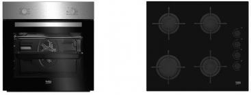 Conjunto Beko BSE21031CXD Horno+placa Gas Inox A
