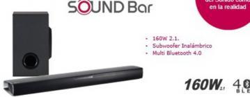 Barra Lg SONIDO Sj2 160w Bluetooth Subwoofer