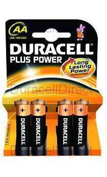 DURACELL PILA AA(LR06)PLUS-POWER 4KP 4PILAS