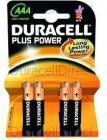 Pila Duracell AAA (lr03) Plus Power 4kp 4pilas