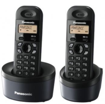 PANASONIC TELEFONO KXTGC312SPB NEGRO DUO DECT