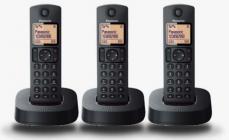 Telefono Panasonic KXTGC313SPB Negro Trio Dect
