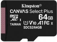 Tarjeta de memoria Micro SD KINGSTON 64GB MSD CSPLUS 100R A1 C10