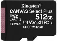 Tarjeta de memoria Micro SD KINGSTON 512GB MSD CSPLUS 100R A1 C10 + ADP