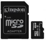 Tarjeta de memoria Micro SD KINGSTON 8GB MICROSDHC UHS-I C10 CON ADAPT.