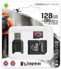 Tarjeta de memoria Micro SD KINGSTON 128GB MICROSD REACT PLUS +AD +MLP