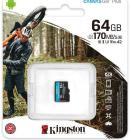 Tarjeta de memoria Micro SD KINGSTON 64GB MICROSD CANVAS GO PLUS
